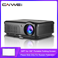 CAIWEI A6/A6AB 1080p Projector Full HD Home Projector Theater Smart Android WiFi LCD LED Video Beamer For Smartphone Proyector