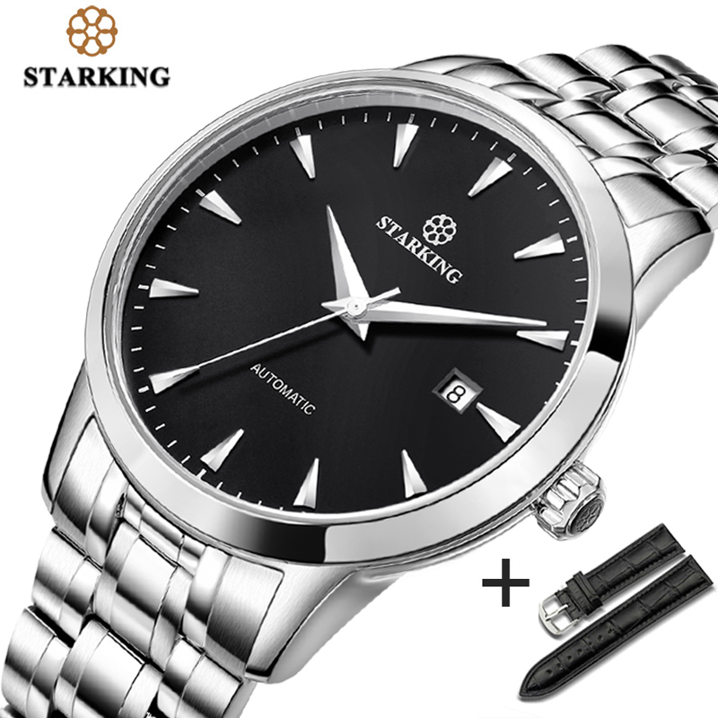 STARKING Original Brand Watch Men Automatic Self wind Stainless Steel 5atm Waterproof Business Men Wrist Watch Timepieces AM0184|watch brand|watch watchwatch wrist watch - AliExpress