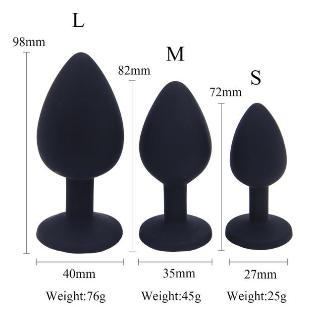 Adult Sex Hot Sale Big Medium and Small Four Colors Silicone Backcourt Anal Plug Alternative Couple Flirting Sex Products 3