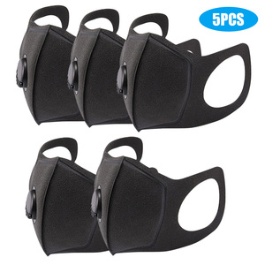 Image 5 - Disposable Black Face Mask Protective Masks Anti Dust Particles for Work Outdoor Non woven Fabric Earloop Mouth Masks Reusable