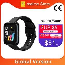 Глобальная версия realme Смарт-часы с пульсометром и кислородом 1,4 дюйма большой сенсорный экран 14 Спортивная модель IP68 водонепроницаемый