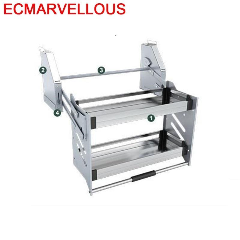 Permalink to Para Armario De Cosina Mutfak Malzemeleri Stainless Steel Hanging Rack Cocina Cozinha Kitchen Cabinet Storage Basket