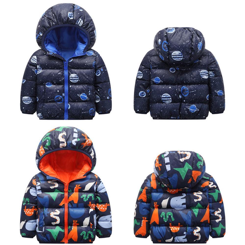 2020 Winter Toddler Kid Baby Girl Boy Cartoon Animal Hooded Coat Jacket Outwear Warm Velvet Outfits Roupa Infantil Kids Clothes