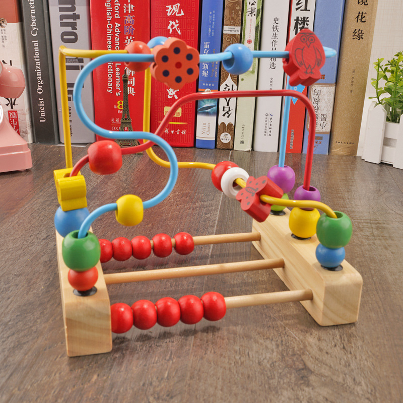 Large Size Baby Children Bead-stringing Toy GIRL'S Desktop Educational Force Age Of 3-5 Men's Toy Non-Coach Bead-stringing Toy C