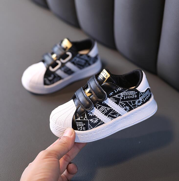 Autumn Kids Sport Shoes Boys Girl Sneakers Baby Children Shoes Fashion White Flat Sport Breathable Toddler Casual Student Shoes 3