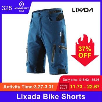 Pantalones cortos de bicicleta lixada Pro para hombre, pantalones cortos de ciclismo de montaña, transpirables, sueltos para bicicleta al aire libre, pantalones cortos de descenso al aire libre