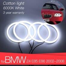 3 년 보증 Hight 품질 LED 천사 눈 키트 코 튼 화이트 헤일로 반지 BMW Z4 E85 E86 2002 2008