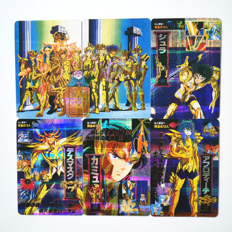 14pcs/set Saint Seiya Golden Zodiac Toys Hobbies Hobby Collectibles Game Collection Anime Cards Free Shipping Anime Cards