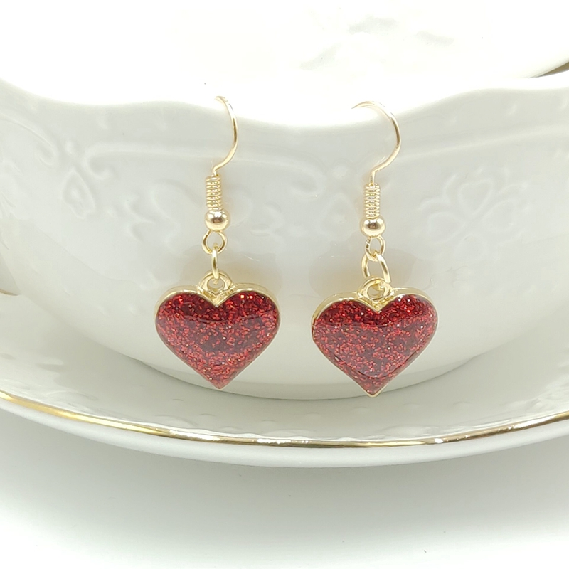 2019 Fashion Charm Red Starry Love Earrings Jewelry Boho Cute Pendant Long Girl