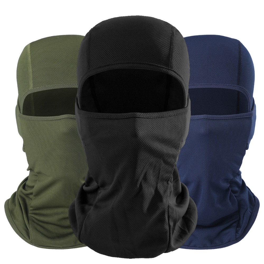 Man Bandana Scarf  Multicam Breathable Tactical Paintball Airsoft Head Hat Army UV Protection Dust-Proof Helmet Full Face Mask