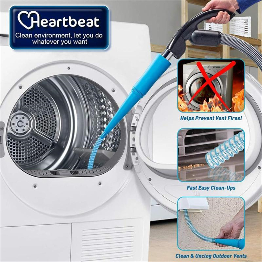 Dryer Lint Vacuum Hoses 1M Dust Removal Extension Tube For Vacuum Cleaner Robot Home Office Cleaning Tool 30FP17