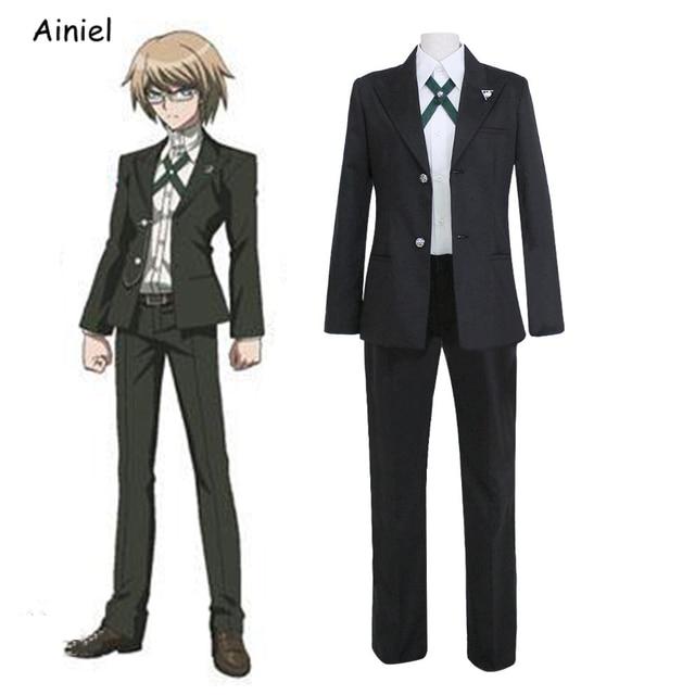 Anime Cosplay Danganronpa Dangan Ronpa Togami Byakuya Costumes Shirt+Coat+Pants Jackets Men Clothing Suits Uniform Halloween