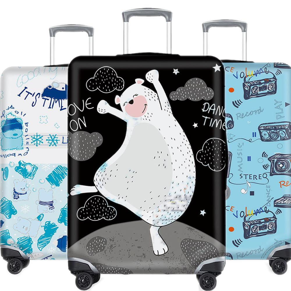 Travel Accessories Luggage Case Protective Cover Creative Animal Waterproof Elastic Suitcase Dust Cover Apply 18-32Inch XL