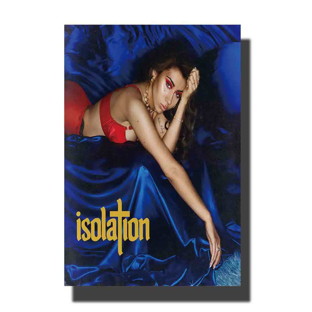 Poster Seni Dekorasi Sutra 24x36in Hadiah Ruang Tamu Gambar Isolasi dengan Kali Uchis 2018 Album Musik Decor Kanvas Kustom