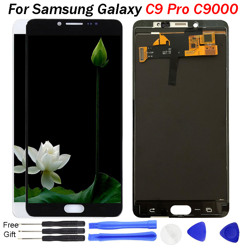 Top quality Display For SAMSUNG GALAXY C9 Pro LCD C9000 Touch Screen Digitizer Assembly Replacement