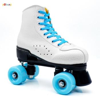 YOBANG 2020 new blue roller skate roller skate type outdoor skate shoes 4 wheels double line for adults women kids