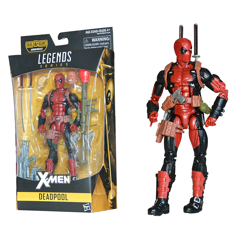 """Marvel Universe 3.75/"""" Deadpool with a Extra Half Masked Head Loose Action Figure"""