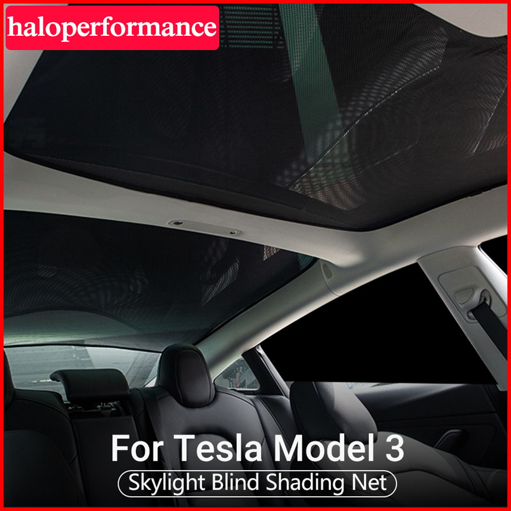 Model3 Sunshade For Tesla Model 3 Interior Accessories Skylight Blind Shading Net Rear Sun Shade Protection Model Three 2020 New