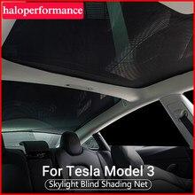 Model3 osłona przeciwsłoneczna dla Tesla Model 3 akcesoria wewnętrzne świetlik niewidomych siatka zacieniająca tylny parasol przeciwsłoneczny ochrona Model trzy 2021 nowy