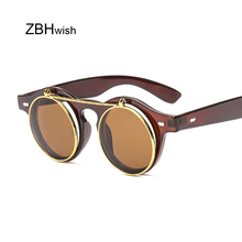 Brand Round Sunglasses Men Women Unisex Retro Vintage Design Small Sun Glasses F