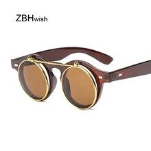 Brand Round Sunglasses Men Women Unisex Retro Vintage Design