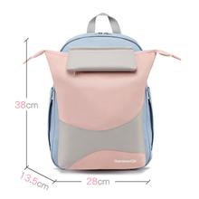 2020 nowych dzieci szkolne torby na książki dla chłopców dziewcząt dziecięce plecaki uczeń szkoły podstawowej popularne Chidrens plecak ortopedyczne tornister tanie tanio Motaora CN (pochodzenie) Poliester zipper Backpack 0 76kg Waterproof Polyester 38cm Patchwork W129-YBK Unisex 13 5cm 28cm