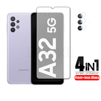 2Pcs For Samsung Galaxy A32 Glass Tempered Clear Glass for Galaxy A22 A52 A72 5G A32 5G Screen Glass Lens film For Galaxy A32 4G 1