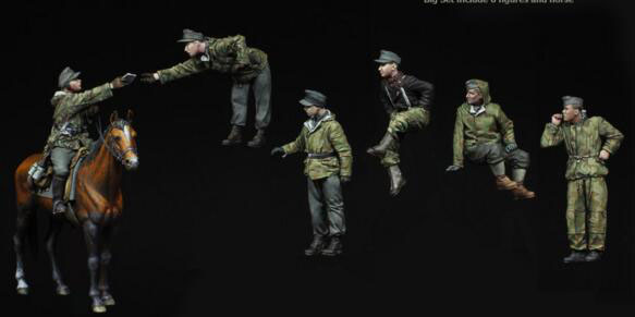 Soldiers, Resin, With, Model, Kit, Tank