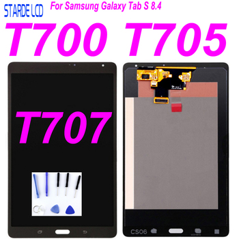 AAA LCD For Samsung Galaxy Tab S 8.4 T700 T705 T707 SM-T700 SM-T705 LCD Display Touch Screen Digitizer Glass Assembly SM-T707 LC free shipping for samsung galaxy tab 3 8 0 sm t310 t310 wifi touch screen digitizer glass lcd display assembly replacement