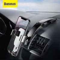 Baseus metal suporte de montagem do telefone do carro para o iphone samsung dobrável gravidade titular do telefone móvel para dashboard pasta suporte do carro