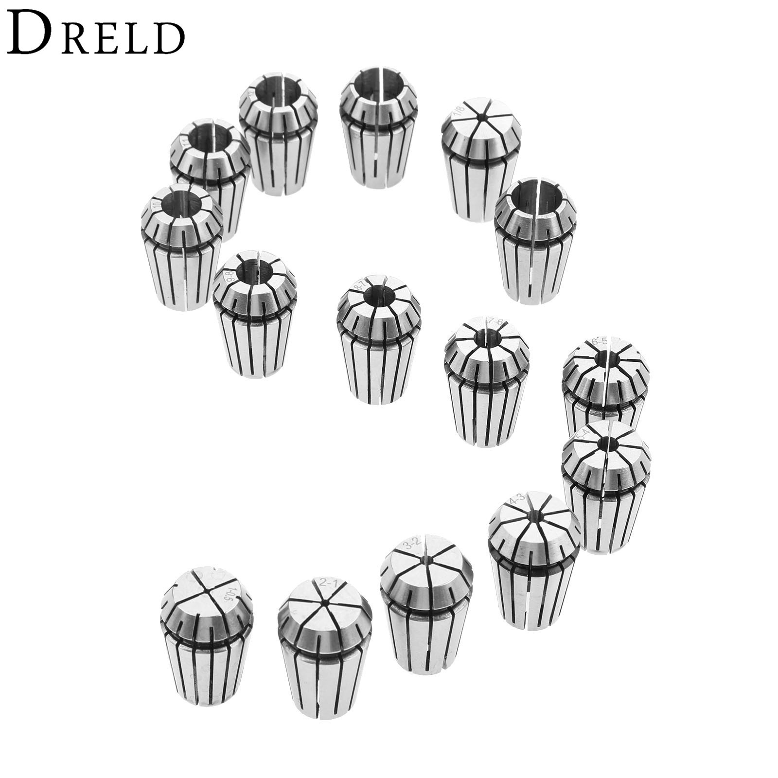 ER20 Spring Collet Chucks Tool Holder For CNC Engraving Machine Milling Lathe Tool 1/2 Inch(12.7mm) 1/8 Inch(3.175mm) 1-13mm+Box