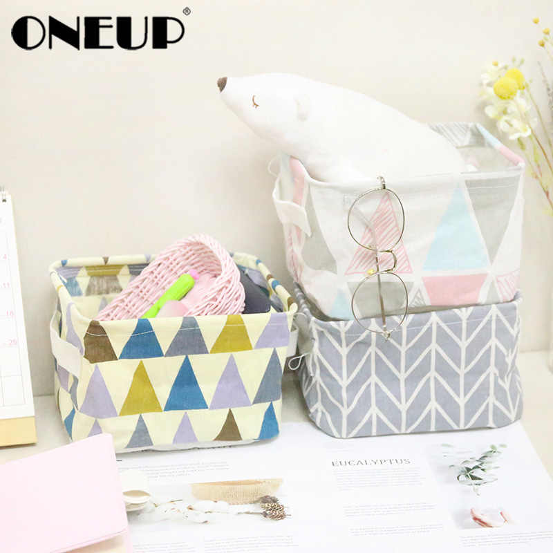 ONEUP Foldable Storage Basket Storage Bin Closet Toy Box Container Organizer Fabric Basket Home Desktop Storage Baskets Bags
