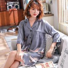 Пикантная ночная рубашка с принтом женская одежда для сна Мягкая