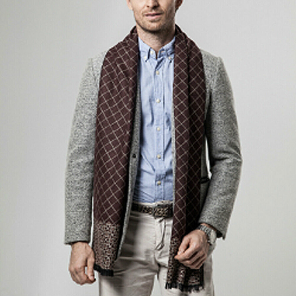 Newest Arrival Men's Business Cashmere Scarf Winter Fashion Warm Shawl Cashmere Soft Scarf