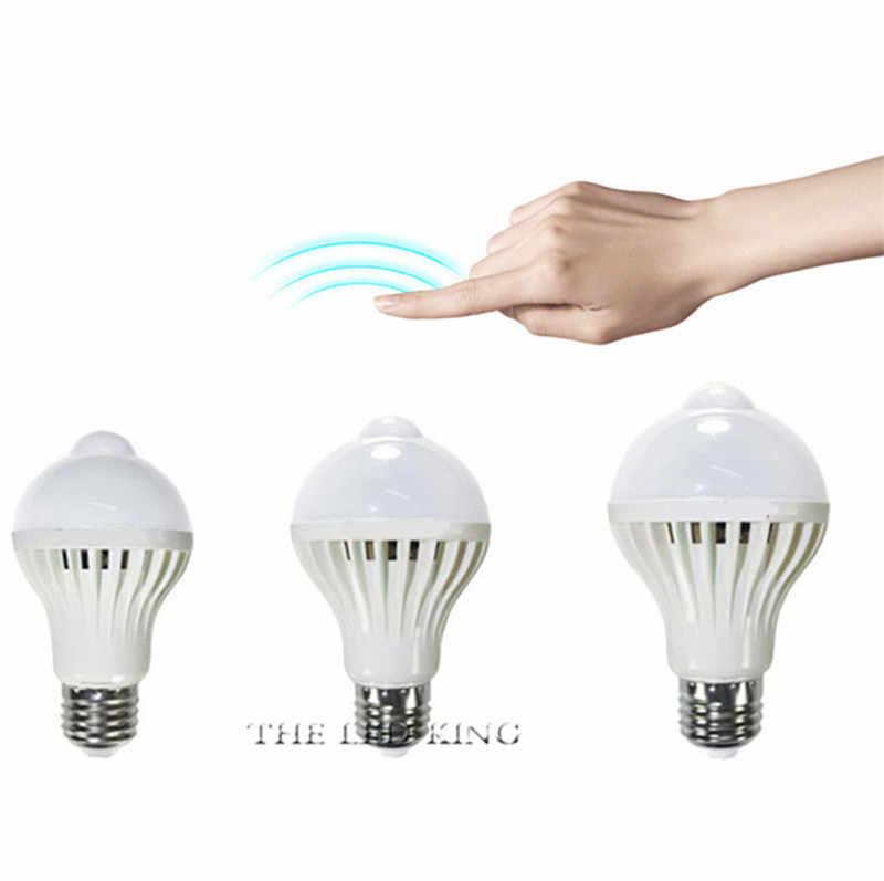 LED Pir モーションセンサーランプ E27 220V 7 ワット 9 ワット 12 ワット 15 ワット自動オン/オフ LED 電球ライト敏感人体運動検出器ライト