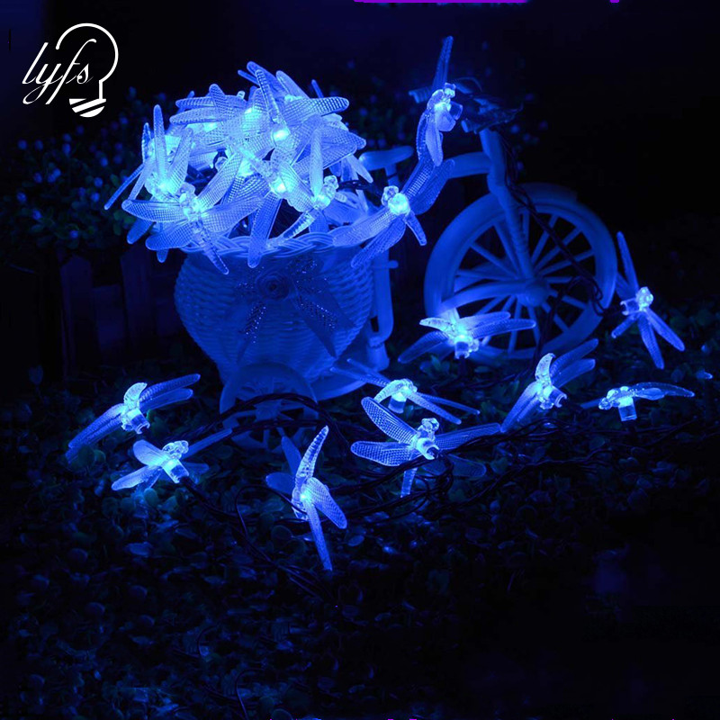 4M 20LED Solar Light String Indoor/Outdoor Waterproof Fairy Lighting For Garden Courtyard Wedding Party Holiday Decoration