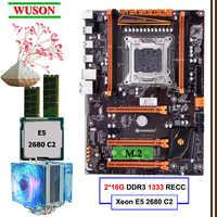 Bauen PC HUANANZHI deluxe X79 LGA2011 gaming motherboard set Xeon E5 2680 C2 mit CPU kühler RAM 32G (2*16G) DDR3 1333MHz RECC