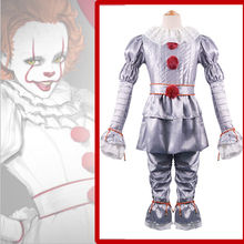 Anime Stephen King's It Pennywise Cosplay Costumes Clown Cosplay Costume Halloween Carnival Party Unisex Cosplay Costume 2016 new arrival halloween costumes anime kyoukai no kanata hiroomi nase cosplay costume beyond the boundary unisex cos clothes