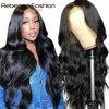 Rebecca vücut dalga Frontal dantel peruk 360 ön-İnsan saç dantel peruk 30In brezilyalı peruk İnsan saç vücut dalga dantel ön peruk