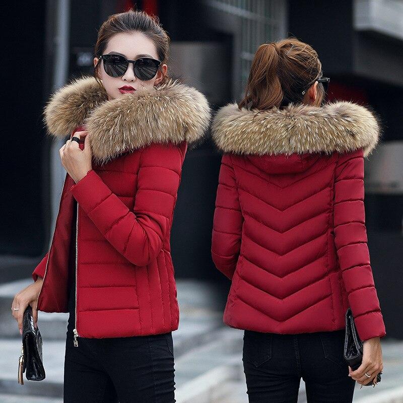 2019  Women Winter Jacket Slim Hooded Short Parkas Jaqueta Feminina New Cotton Warm Solid Coat Women Outwear Clothing BDR01