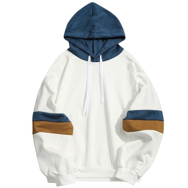New Print Men s Hoodie splice Double stripe Streetwear Men women Autumn Winter Casual Hoodies Sweatshirts Pullovers Tops Hot