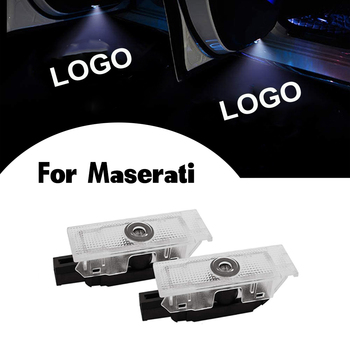 2 Car LED Door Logo Light For Maserati Quattroporte Ghibli GranTurismo GranCabrio Levante Ghost Shadow Welcome Lamp Accessories image