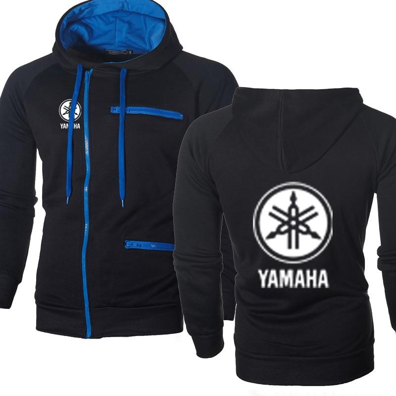Hoodies Men Yamaha Car Logo Print Casual Hip Hop Harajuku Fashion Long Sleeve Fleece Warm Hooded Sweatshirts Mens Zipper Jacket