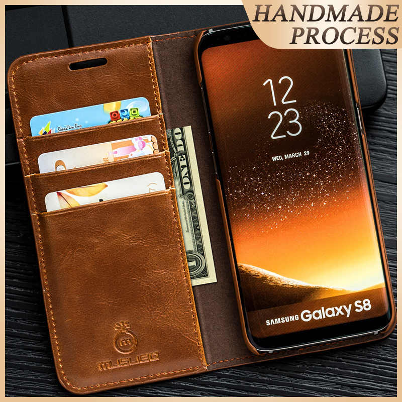 Musubo Luxe Flip Leather Case Voor Samsung Galaxy S10 Plus S10 + S10E S9 Plus S8 S8 + S9 + cover Behuizing Whit Card Slot Coque Capa