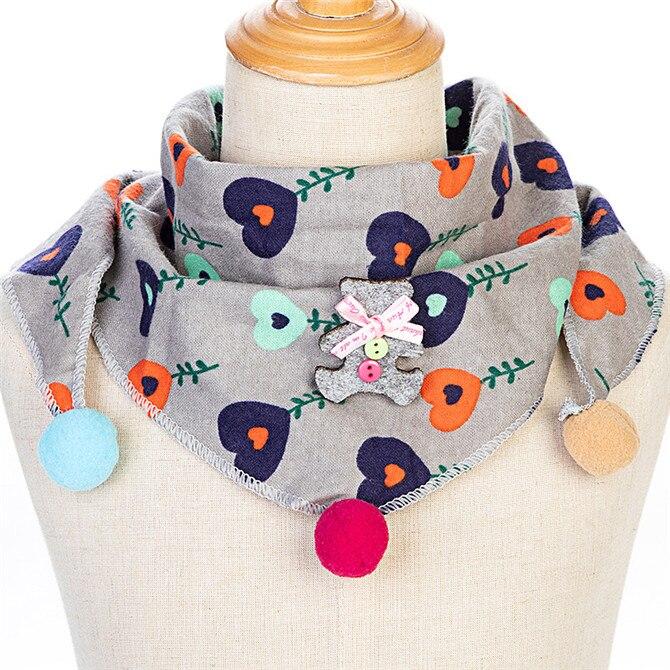Весенние клетчатые треугольные шарфы в горошек для маленьких девочек; осенне-зимняя шаль для мальчиков и девочек; Детские хлопковые воротники; теплый детский шейный платок - Цвет: C13