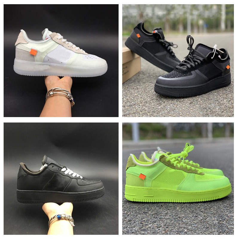 2020 AF1 Normal Quality Volt Green Low Running Shoes Mesh Upper Mens Women Fashion Leading TOP Designer Casual Shoes  No Box