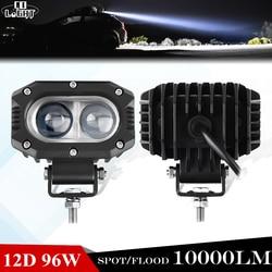 CO LIGHT 12D Offroad Led Work Light Bar 96W Spot/Flood Driving Work Barra Light Bar for Truck SUV ATV 12V 24V Car External Light
