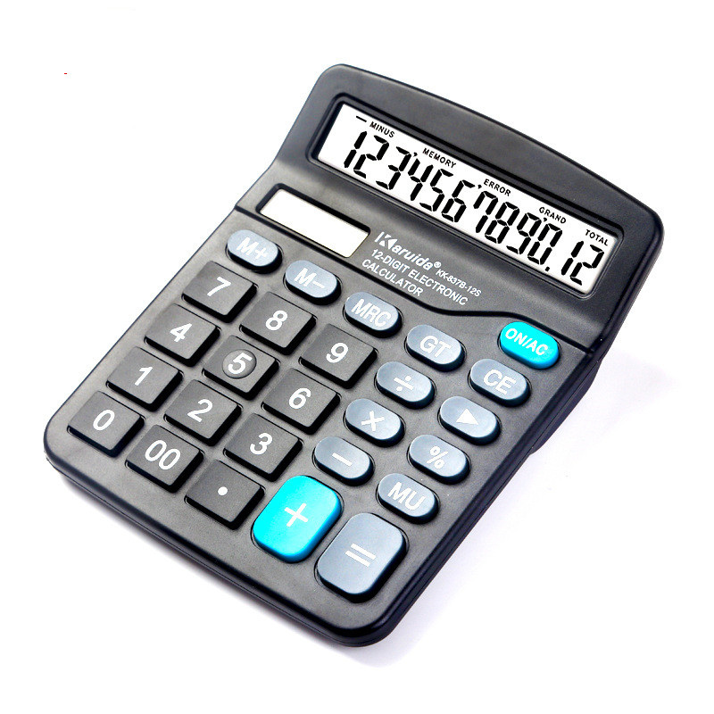 Solar Calculator 12 Bit Function Student Office Stationery Calculator