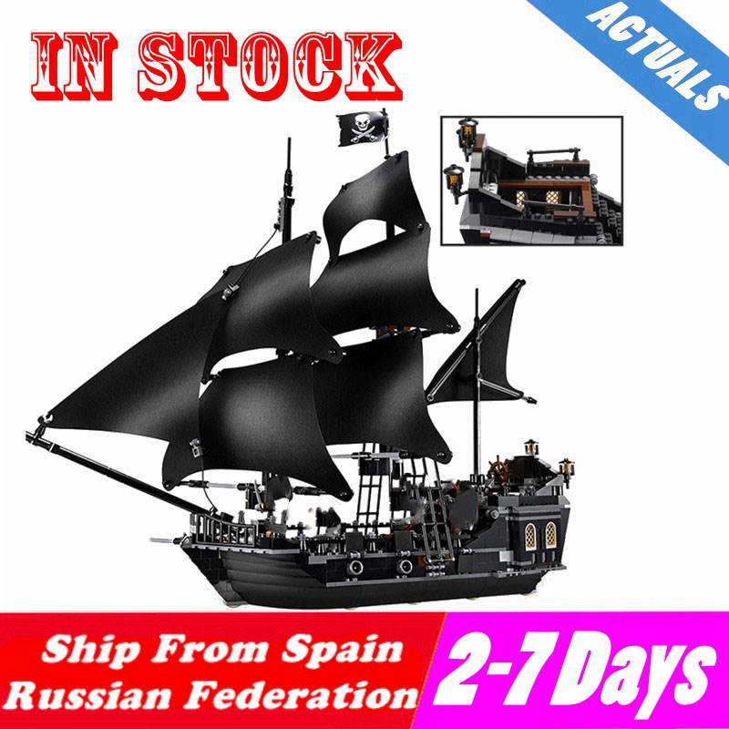 Mailackers M03001 The Black Pearl Ship 804Pcs Bricks Compatible With Pirates of the Caribbean Building Block