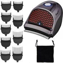 Tondeuse à cheveux sans fil Rechargeable avec 9 peignes bricolage Kit d'auto-coupe, tondeuse à tête chauve, coupe-cheveux avec 9 peignes